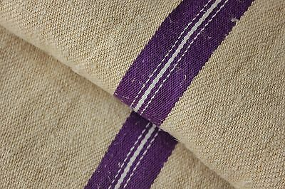 GRAIN SACK grainsack linen bag PURPLE  linen woven bag c 1930's