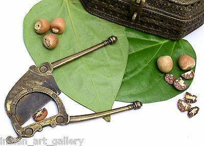 Unique design antique brass betel nut cutter Great Indian home accents. i12-53