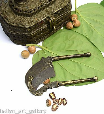 Decorative brass betel nut cutter indian hand crafted rare collectible. i12-56