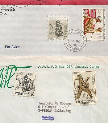 2 Covers Chyppre Cyprus To Sweden. L511