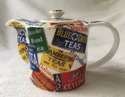 "World Tea Porcelain Mini 4"" Teapot Paul Cardew Designed In England 2008"