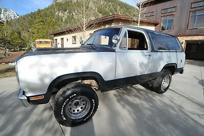 1978 Dodge Ramcharger  1978 Dodge Ramcharger-Removeable top-Minimal rust!!!