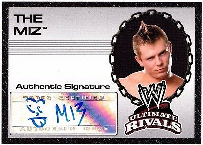 WWE Topps Ultimate Rivals 2008 Auto Autograph Card The Miz