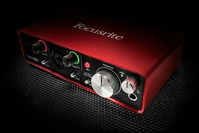 FOCUSRITE SCARLETT 2i2 MK2 SCHEDA AUDIO INTERFACCIA MIDI USB 2 IN 2 OUT X PC MAC