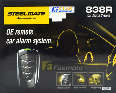 Steelmate 838R-4219 Car Alarm System with Remote Trunk Release Valet mode
