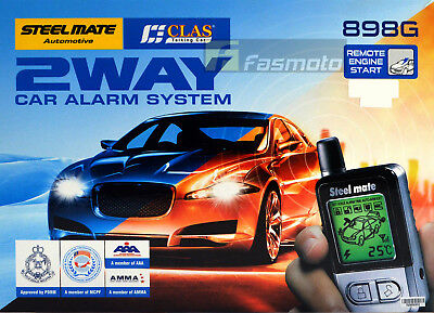 Steelmate 898G 2 Way Car Alarm System with Remote Engine Start Temp Monitoring
