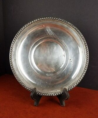 250g Sterling Silver Vintage Plate Saucer, Manchester Co 973 M made in USA