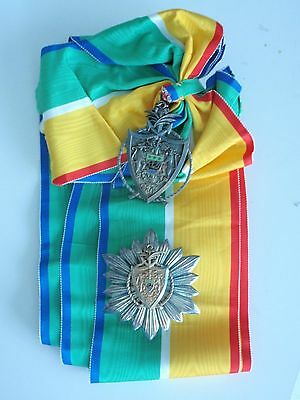 Gabon Grand Cross Set Order Of National Merit. Rare. Ef!