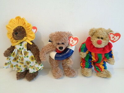 3 x TY ATTIC TREASURES TEDDY BEARS - PICCADILLY + ALLURA + SUSANNAH - NEW + TAGS