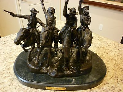 """F Remington Bronze LE 56/100 """"Coming Through The Rye"""" Statue Western sculpture"""