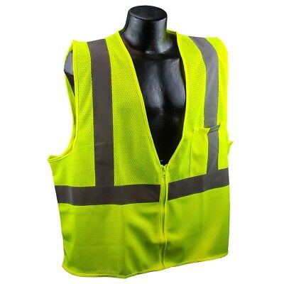 Full Source Class 2 Reflective Mesh Safety Vest with Pocket, Yellow/Lime