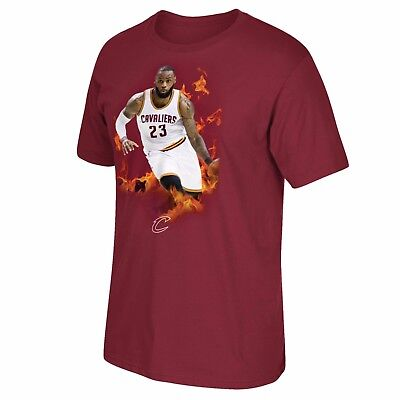 Adults XLarge Cleveland Cavaliers Lebron James adidas Fire T-Shirt H863