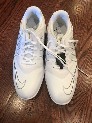 Men`s Nike Lunar Control Vapor Golf Shoes White Gray Tw