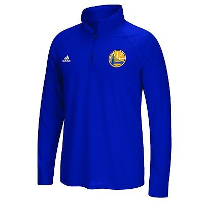 Adults Large Golden State Warriors adidas Climalite 1/4 Zip Top H736