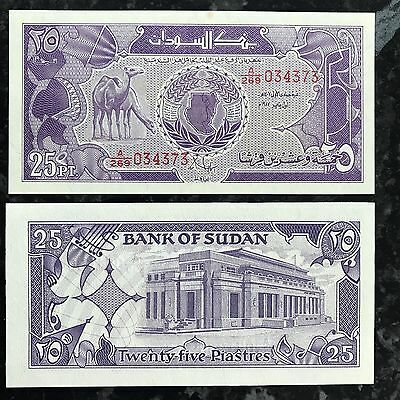 Sudan. 25 piastres UNC 1987 Banknote old paper money Africa