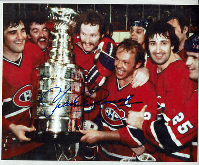 "NHL Hockey Montreal Canadiens Stanley Cup 8x9.5"" Photo SIGNED by Yvan Cournoyer"
