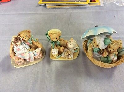 3 Cherished Teddy's Figurines 1991