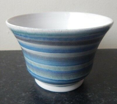 Vintage Cinque Ports Pottery Rye Blue Swirled Pot or Bowl
