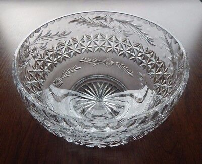 Stunning Thomas Webb Large Crystal Bowl - Excellent Condition & Signed