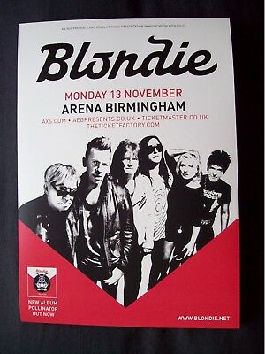 BLONDIE  A5 concert poster