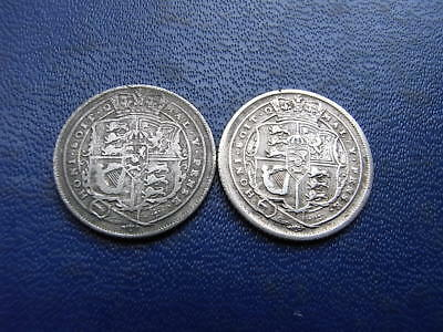 George III Silver Sixpences, 1816 and 1818 (2 coins)
