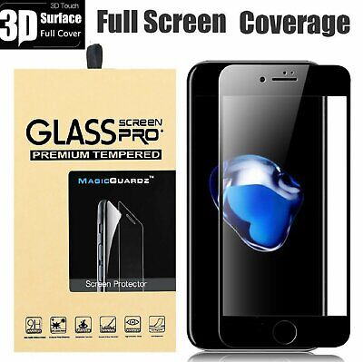 3D Tempered Glass Curved Full Cover Screen Protector For iPhone 8 / 8 Plus