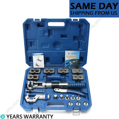 Universal Hydraulic Flaring Tool Set Copper Pipe Fuel Tube Expander Kit