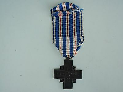 Czechoslovakia 1938 Faithful Service Cross.  Vf