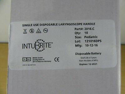 Intubrite Disposable Laryngoscope handles  exp-date-1220/21