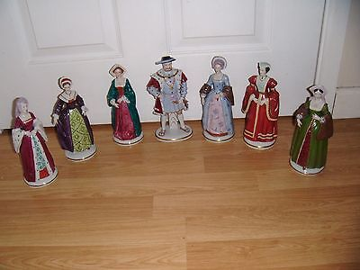 SITZENDORF HENRY VIII & HIS SIX WIVES FIGURES ~ FULL SET ~ EXCELLENT ~ 1st