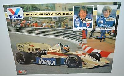 Old Motor Sport Poster - Barclay Arrows A7 - BMW Turbo.