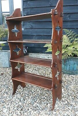 very nice oak arts and crafts period shelves bookcase book shelves
