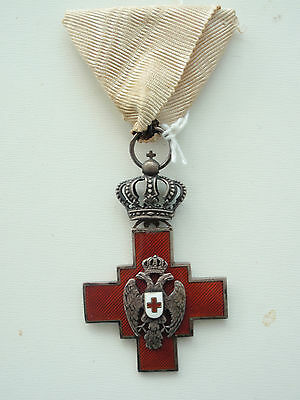 Serbia Order Of The Red Cross 1876 For Gentleman. Silver/hallmarked. Rare! Vf+