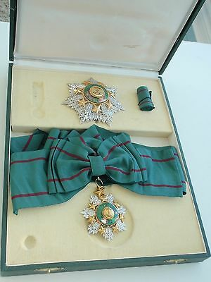 Jordan Grand Cross Set Order Of Merit. Cased. Rare. Vf.