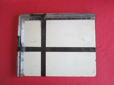 "Sun-Ray Photo Company Dual Metal Blade Darkroom Enlarging 14""x11"" Easel - c1940s"