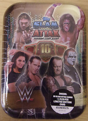 WWE ~ Slam Attax 10th Edition ~ Trading Card Game Collectors Mini Tin