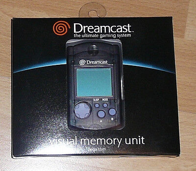 Sega Dreamcast BLACK VMU Visual Memory Unit New Original in Box Never Used !!!