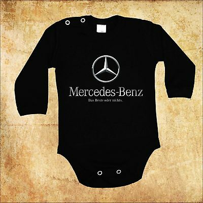 Baby Black  Body Mercedes Benz 3 Car Bodysuit Kurzarm/langarm