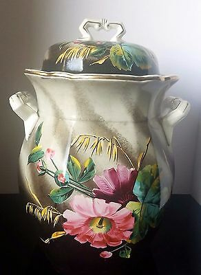 Hand Painted Soup Tureen With Lid  BY John Maddock &  Son England - C 1906