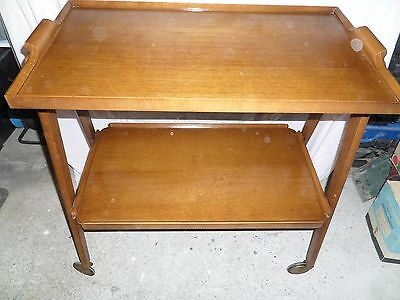 L@@K~~ Solid wood drinks trolley circa 1970s collectable~~L@@K