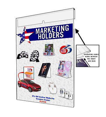 Wall Mount Ad Frame, Sign Holder 8.5 x 11 Inches, Clear Acrylic