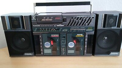 Schneider BP1000 Vintage,Boombox,Ghetto Blaster inc Walkman & detachable speaker