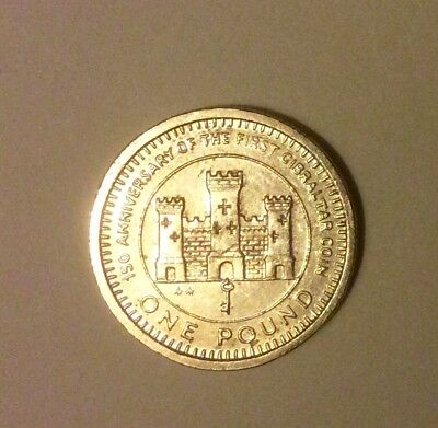Rare 1989 150th Anniversary of First Gibraltar Coin £1