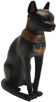 "Bastet Bast Ancient Egyptian Feline Cat Goddess 8"" Statue Figurine Sculpture"