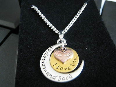 "New 10 x Love You to the Moon & Back Silver Plated 18 "" Necklaces & Gift Boxs"