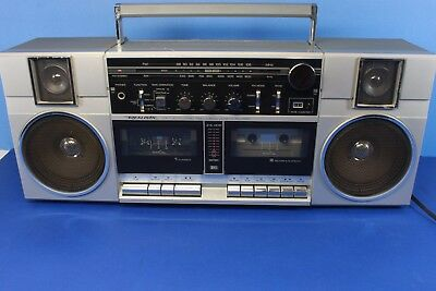 REALISTIC 14-787, AM FM stereo,double cassette boombox. (ref A234)