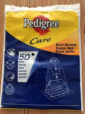 PEDIGREE  50 REFILL EASI-SCOOP DOG POO, POOP, WASTE BAGS,strong dog Waste Bags