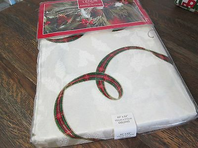 "Lenox-Holiday Nouveau-tablecloth-Ivory-60"" x 84""-Cotton/Poly-orig $80-New w/tags"