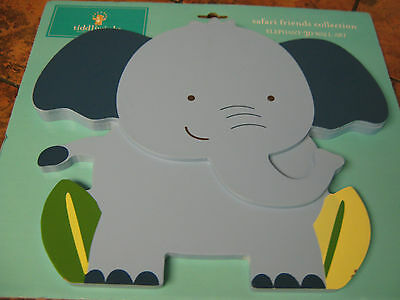 "Tiddliwinks-Safari Friends Collection-Elephant 3D Wall Art--10.5""x 9""-New w/tags"
