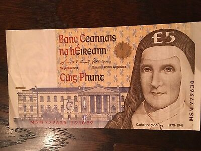 Central Bank of Ireland 5 Pounds C Series 15.10.99 MSM 779630